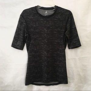 Adidas Climate Gray Short Sleeve Athletic Tee